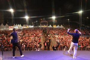 Show do Grupo Sampa Crew animou o sábado na festa junina de Mauá. Foto: Evandro Oliveira/PM