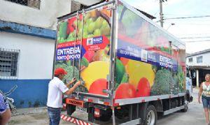 Banco de Alimentos de Mauá leva produtos diretamente às entidades. Crédito: Bruno Prado/PMM