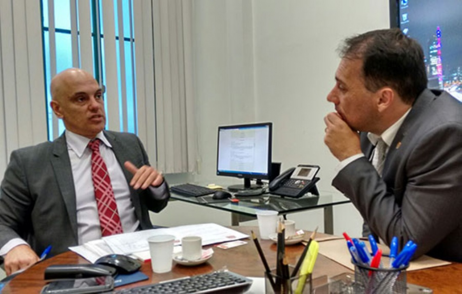 Atila Jacomussi se reuniu com o secretário de Segurança Pública do Estado de São Paulo, Alexandre de Moraes