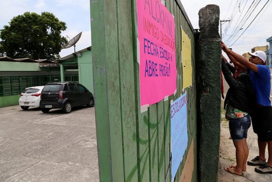 Ocupação em Mauá começou na noite de segunda-feira (16/11) com apoio dos pais. Foto: Andris Bovo