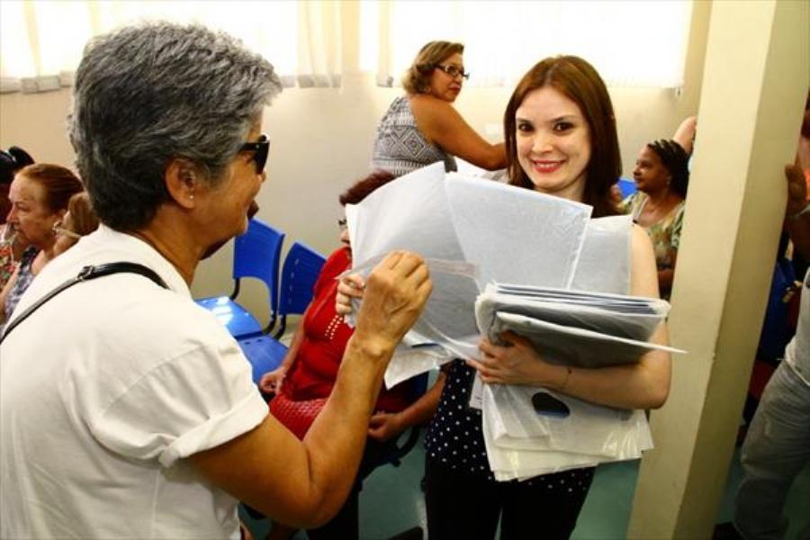 Mulheres elogiaram o atendimento e a rapidez com a Carreta Mulheres de Peito. Foto: Roberto Mourão/ PM