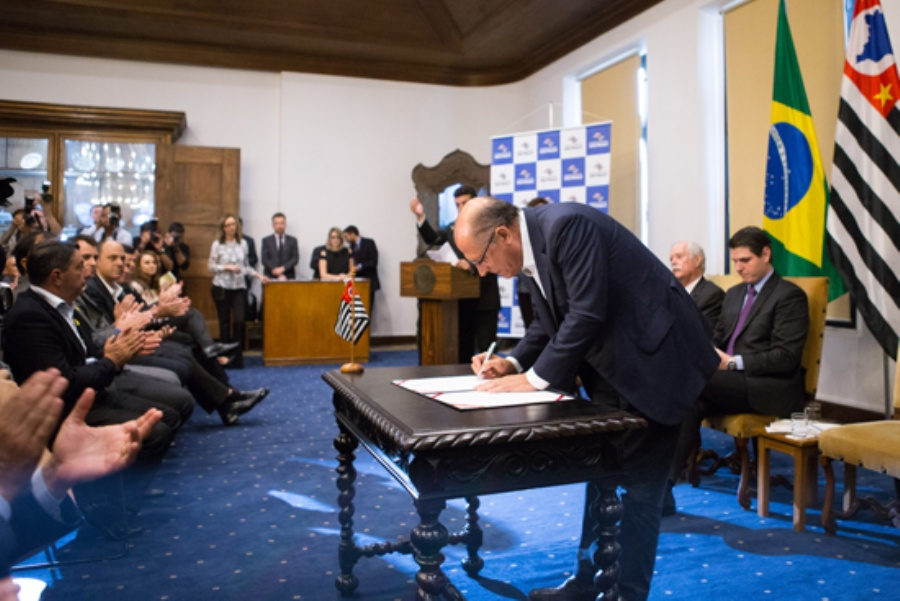 Geraldo Alckmin libera recursos para o 1º lote de convênios. Crédito: divulgação