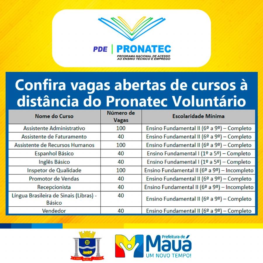 As matrículas pode sem feitas de segunda a sexta-feira das 8h às 16h, até o dia 30 de outubro. Crédito: divulgação