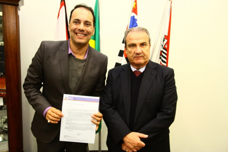 O prefeito de Mauá fez diversas agendas com o secretário estadual de Segurança Pública Magino Alves Barbosa Filho. Crédito: Roberto Mourão/PMM