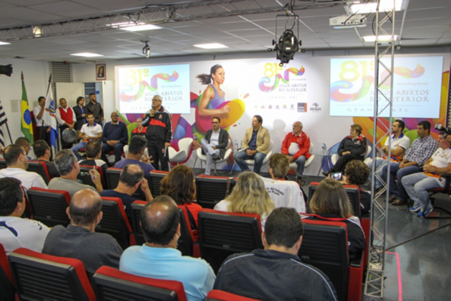 Congresso técnico da 81ª edição dos Jogos Abertos do Interior, realizado em Mauá. Crédito: Divulgação/Consórcio ABC