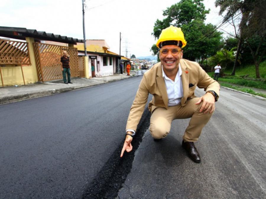 Pavimenta Mauá é o maior plano de recuperação viária da história da cidade. Crédito: Roberto Mourão/PMM