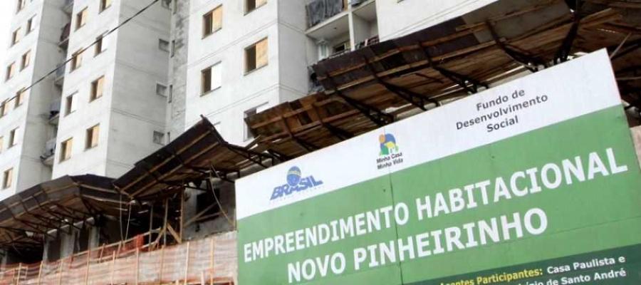 Meta é construir 2.036 unidades até o fim de 2019, além de entregar 1.030 residências já em obras. Foto: Nario Barbosa/DGABC