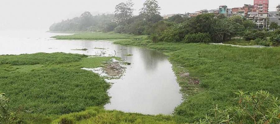 Governador deu início às obras do programa de coleta e tratamento de esgoto na represa. Foto: Nario Barbosa/DGABC