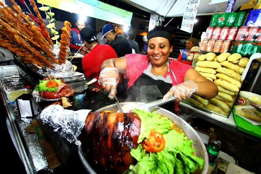 Gastronomia agradou os visitantes. Crédito: Roberto Mourão/PMM