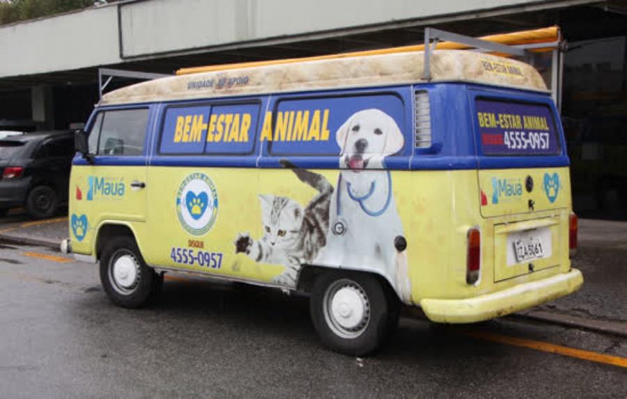 Bem-Estar Animal serviço itinerante da Prefeitura de Mauá. Crédito: Divulgação-PMM